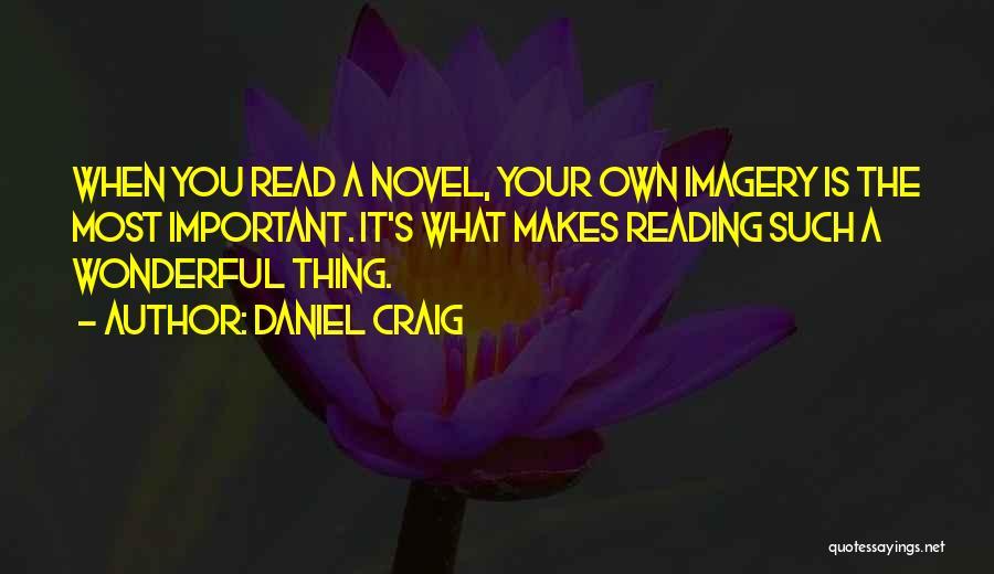 Reading A Novel Quotes By Daniel Craig
