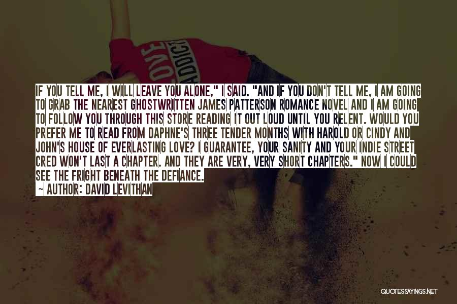 Reading A Novel Quotes By David Levithan