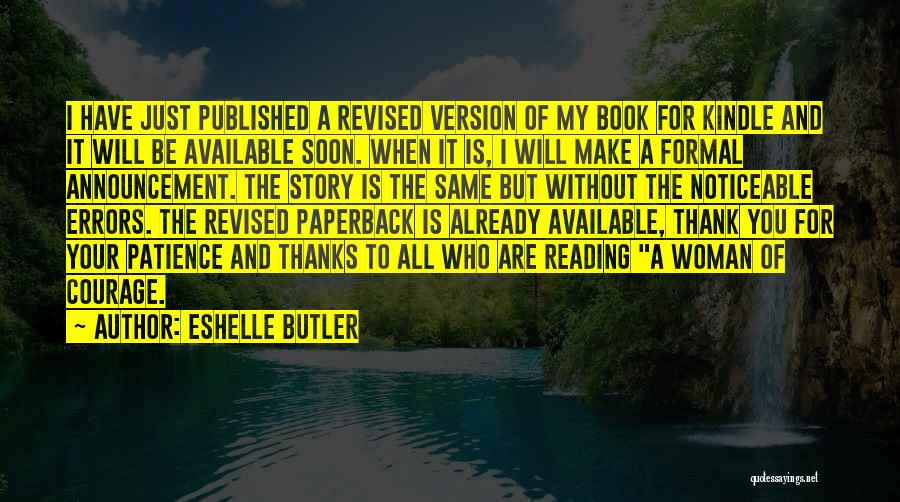 Reading A Novel Quotes By Eshelle Butler