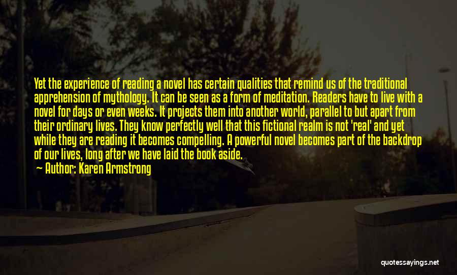 Reading A Novel Quotes By Karen Armstrong