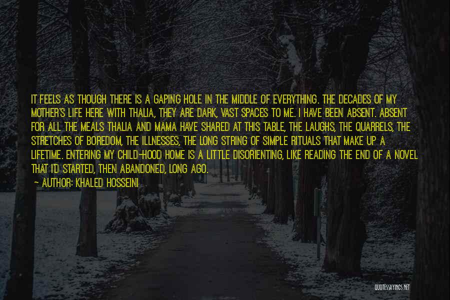 Reading A Novel Quotes By Khaled Hosseini