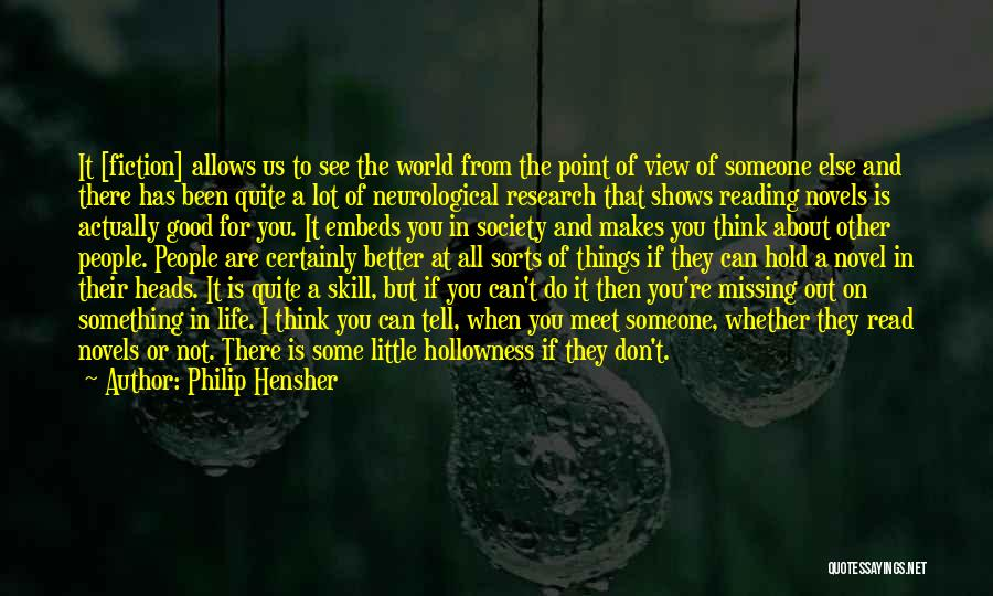 Reading A Novel Quotes By Philip Hensher