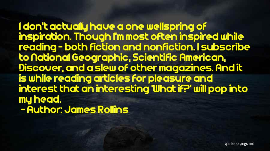 Reading For Pleasure Quotes By James Rollins
