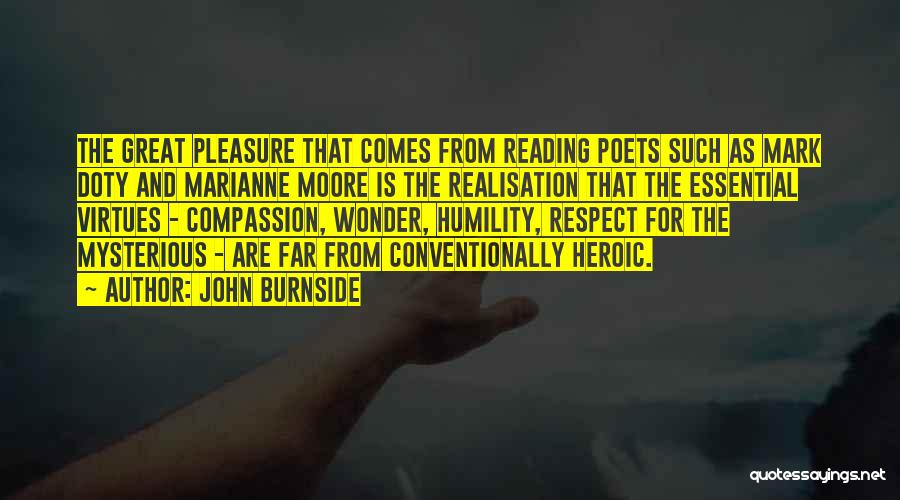 Reading For Pleasure Quotes By John Burnside