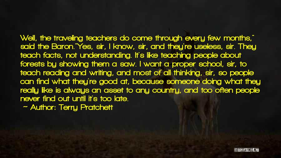 Reading For Teachers Quotes By Terry Pratchett