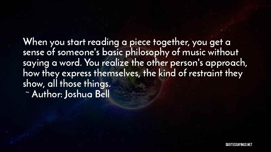 Reading Together Quotes By Joshua Bell