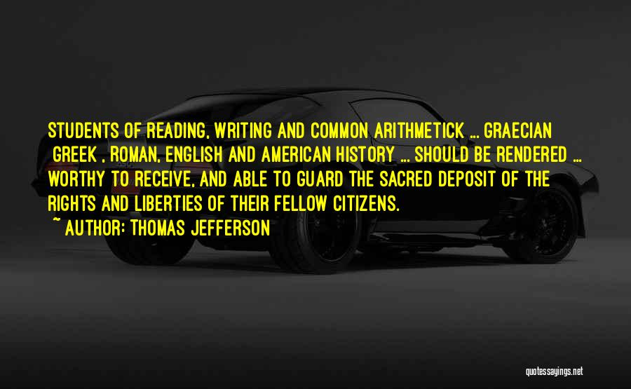 Reading Writing And Education Quotes By Thomas Jefferson