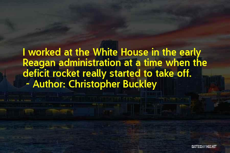 Reagan Deficit Quotes By Christopher Buckley