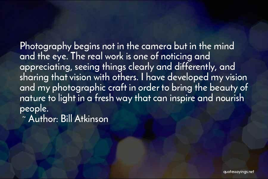 Real Beauty Quotes By Bill Atkinson