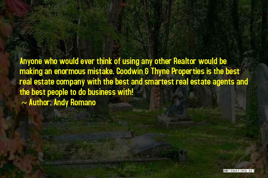 Real Estate Quotes By Andy Romano