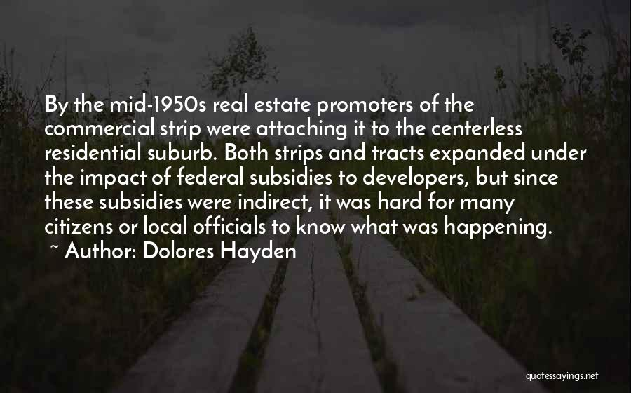 Real Estate Quotes By Dolores Hayden