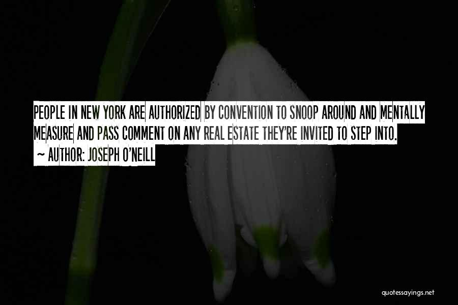 Real Estate Quotes By Joseph O'Neill