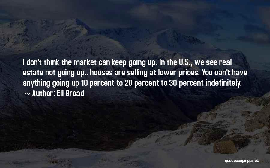 Real Estate Selling Quotes By Eli Broad