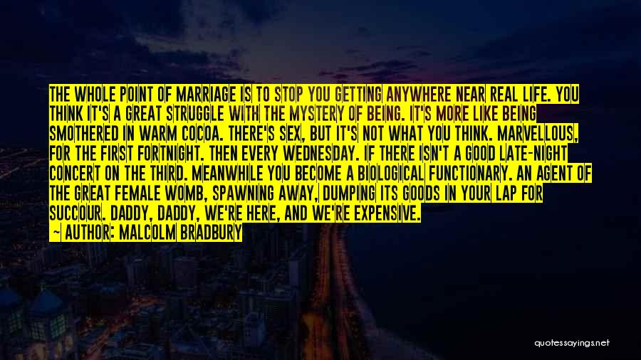 Real Good Night Quotes By Malcolm Bradbury