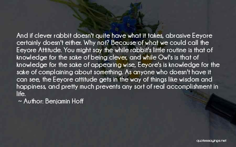 Real Life Wisdom Quotes By Benjamin Hoff