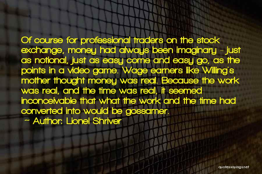 Real Time Stock Quotes By Lionel Shriver