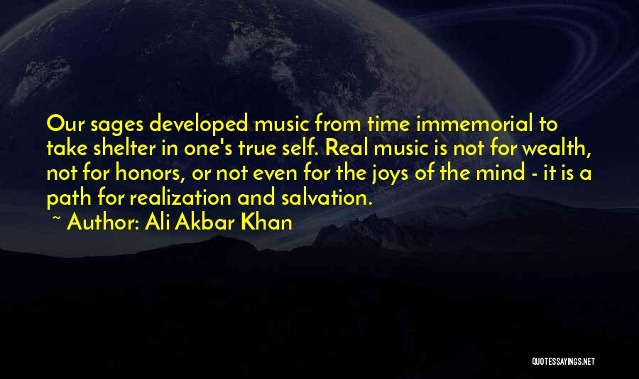 Realization Of Self Quotes By Ali Akbar Khan