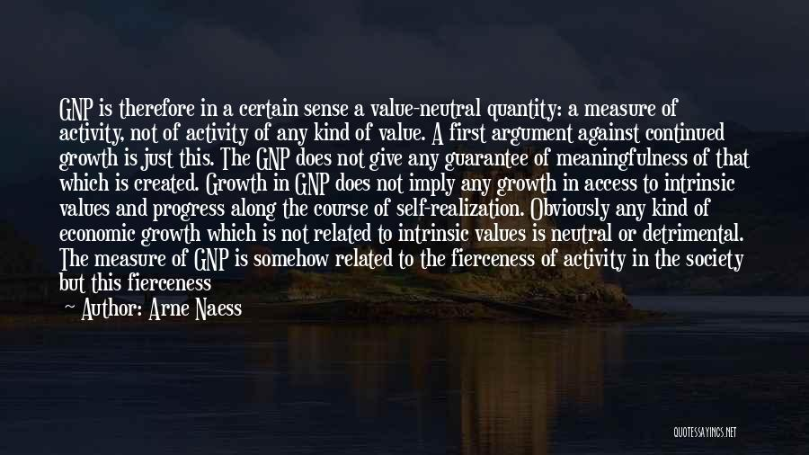 Realization Of Self Quotes By Arne Naess