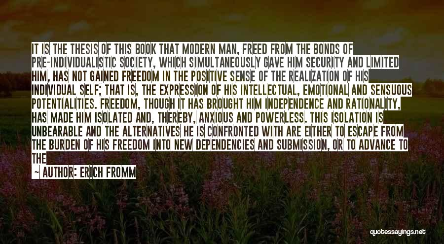 Realization Of Self Quotes By Erich Fromm