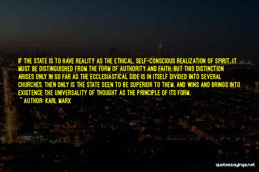 Realization Of Self Quotes By Karl Marx