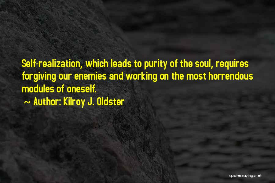 Realization Of Self Quotes By Kilroy J. Oldster