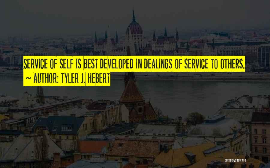 Realization Of Self Quotes By Tyler J. Hebert