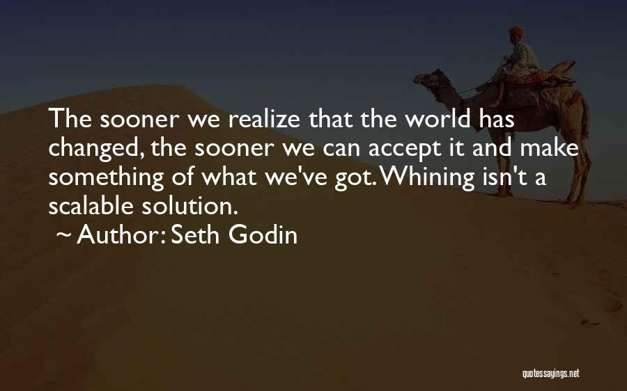 Realizing You Changed Quotes By Seth Godin