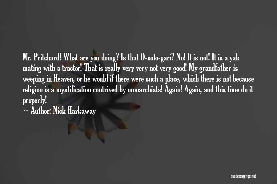 Really Good Faith Quotes By Nick Harkaway