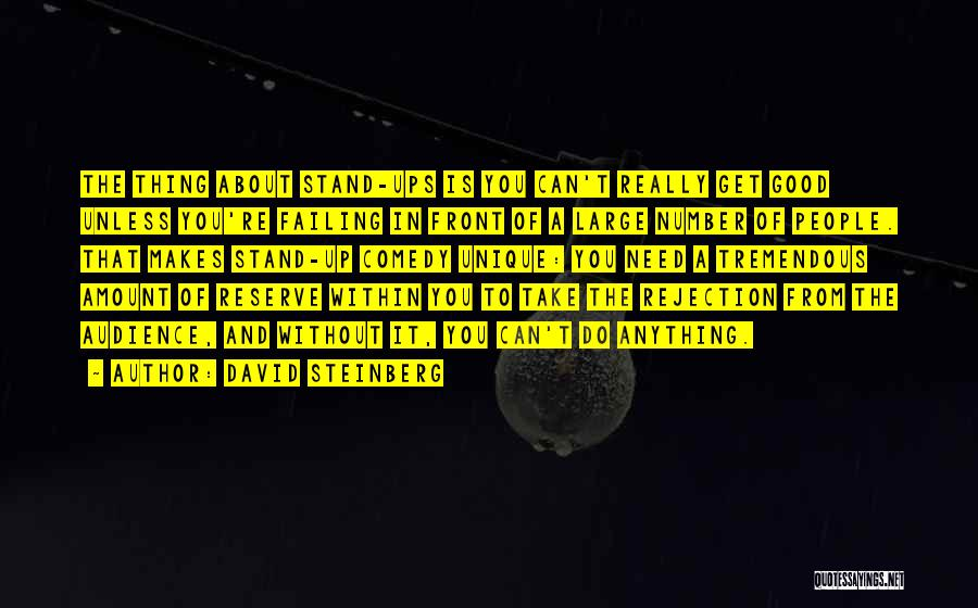 Really Good Unique Quotes By David Steinberg
