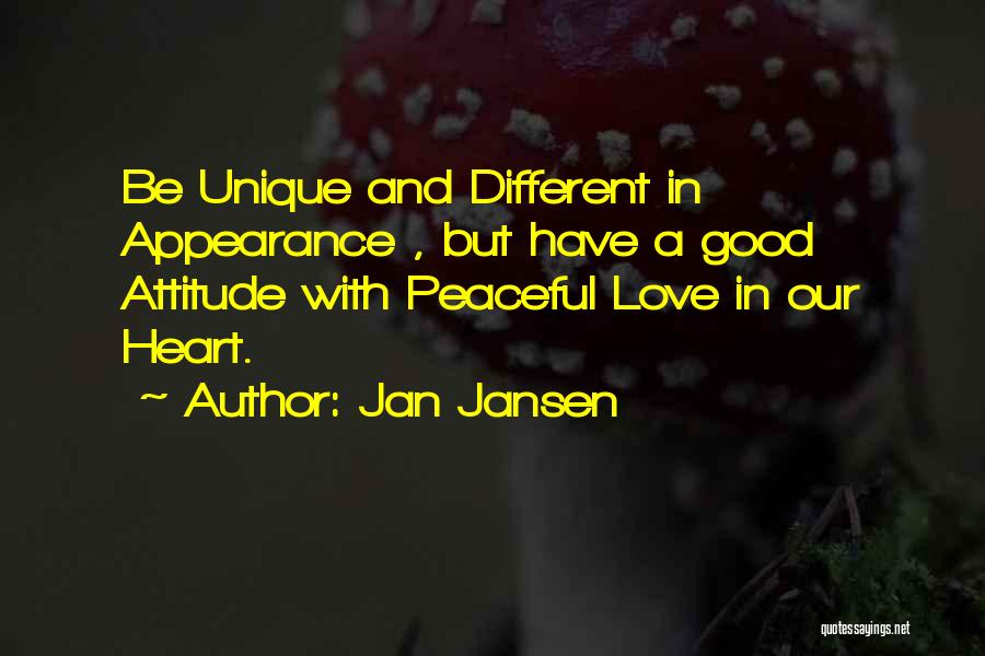 Really Good Unique Quotes By Jan Jansen