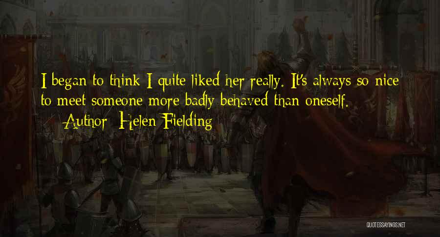 Really Nice Funny Quotes By Helen Fielding