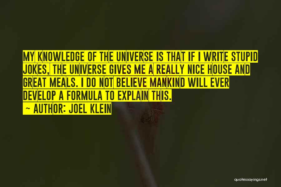 Really Nice Funny Quotes By Joel Klein