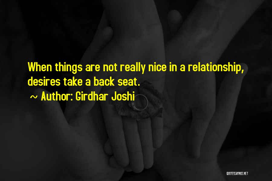 Really Nice Quotes By Girdhar Joshi