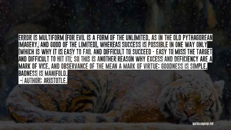 Reason For Success Quotes By Aristotle.