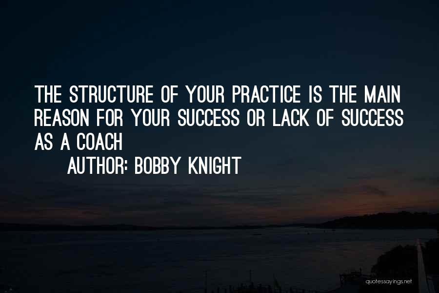 Reason For Success Quotes By Bobby Knight