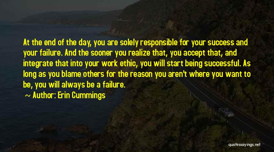 Reason For Success Quotes By Erin Cummings