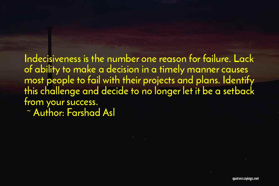 Reason For Success Quotes By Farshad Asl