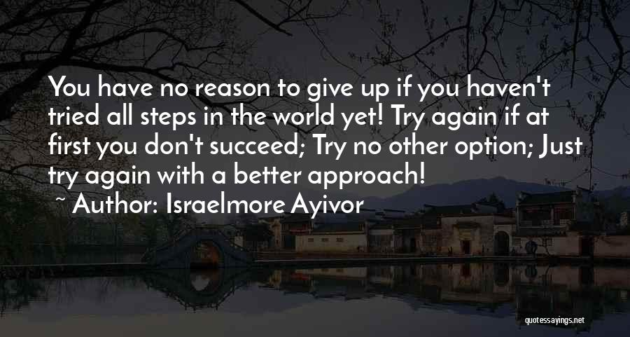 Reason For Success Quotes By Israelmore Ayivor