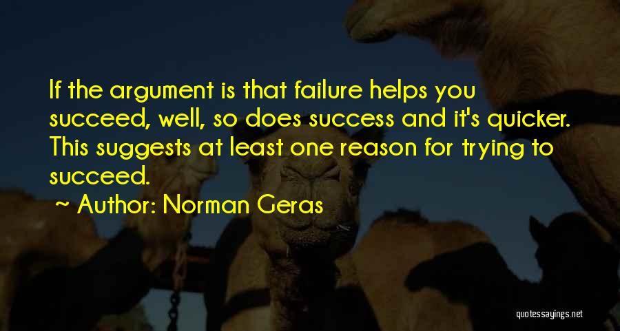 Reason For Success Quotes By Norman Geras