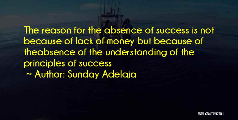 Reason For Success Quotes By Sunday Adelaja