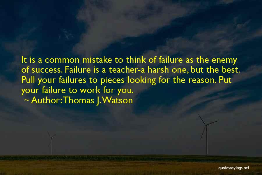Reason For Success Quotes By Thomas J. Watson
