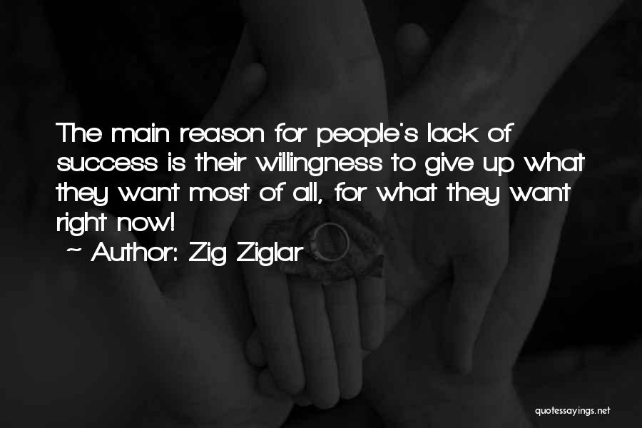 Reason For Success Quotes By Zig Ziglar