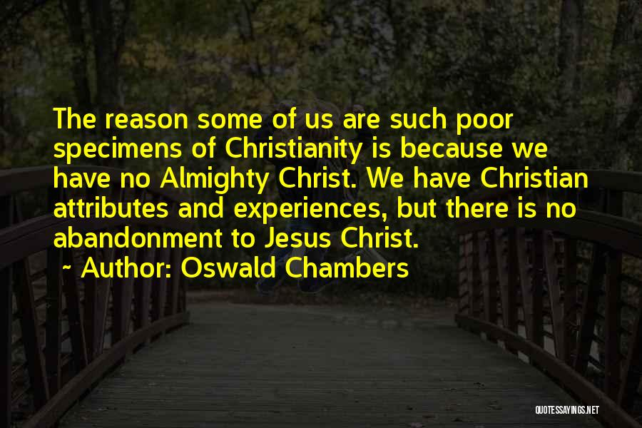 Reason Over Faith Quotes By Oswald Chambers