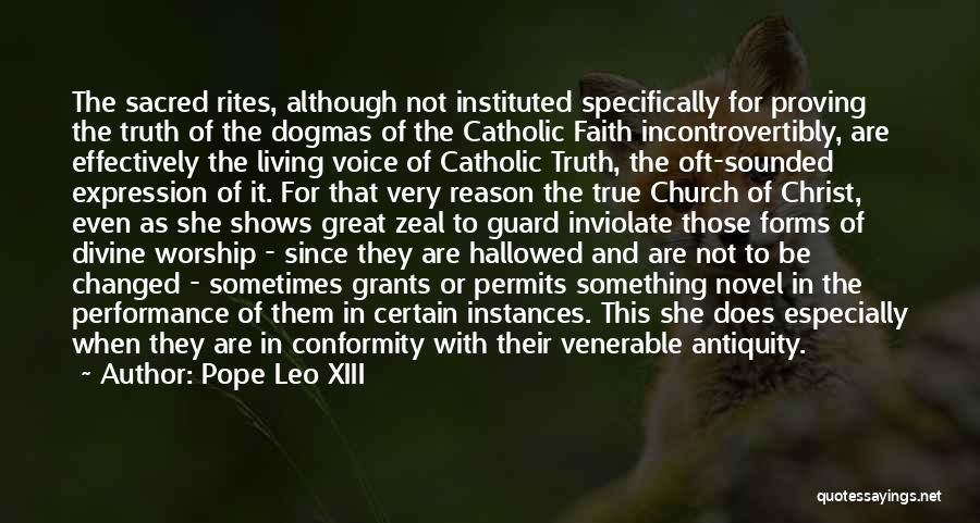 Reason Over Faith Quotes By Pope Leo XIII