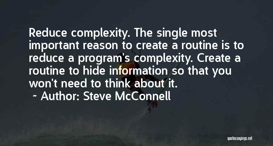 Reason Why I'm Single Quotes By Steve McConnell