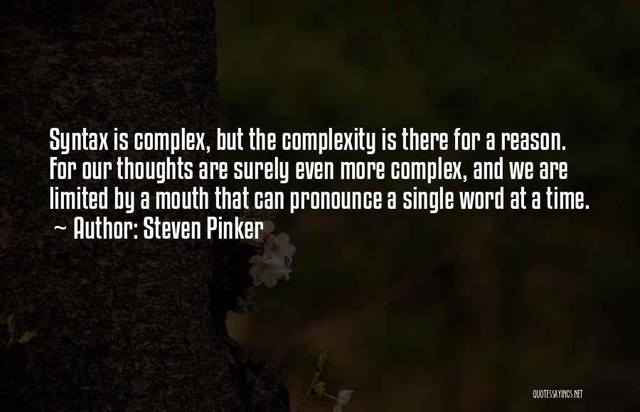 Reason Why I'm Single Quotes By Steven Pinker