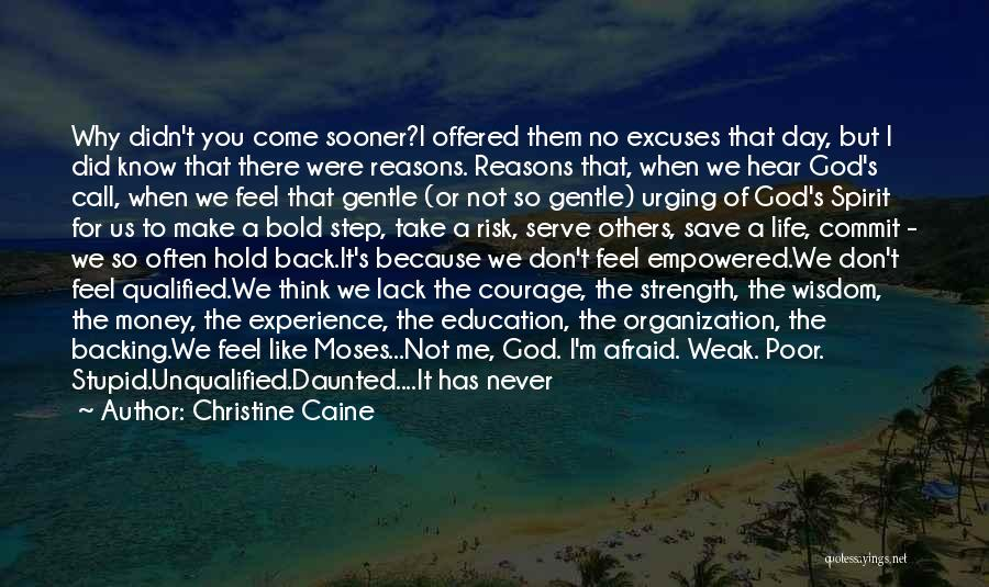 Reasons And Excuses Quotes By Christine Caine