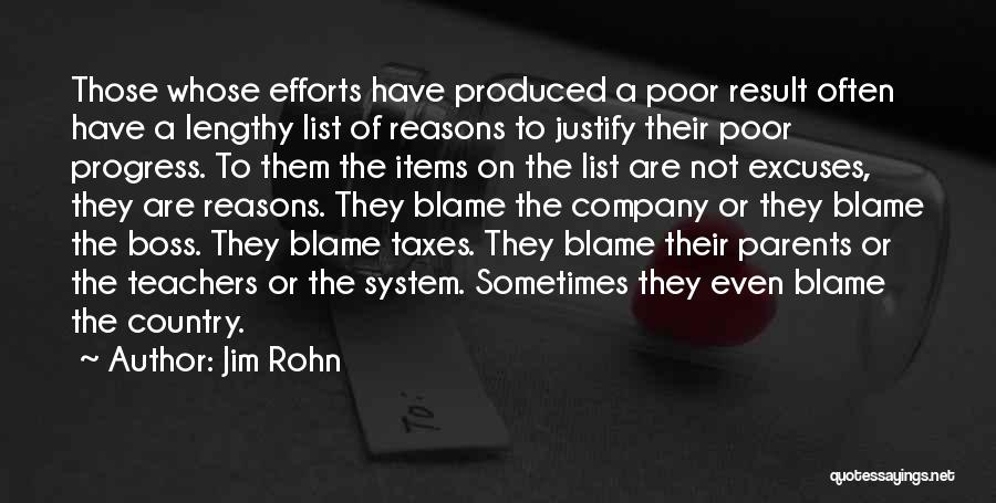 Reasons And Excuses Quotes By Jim Rohn