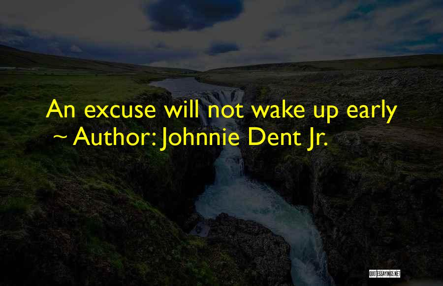 Reasons And Excuses Quotes By Johnnie Dent Jr.