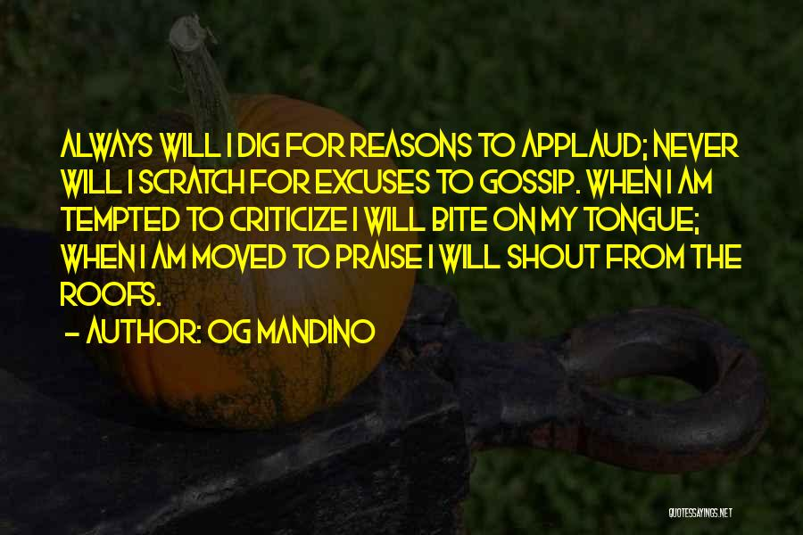 Reasons And Excuses Quotes By Og Mandino